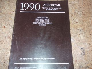 1990 Ford Aerostar Van 4 WD Update Service Manual OEM