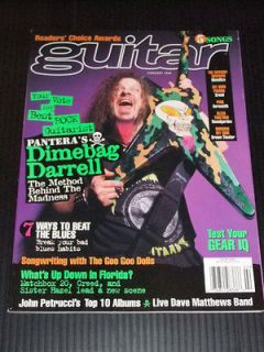 Guitar 1998 02 Pantera Dimebag Darrell Metallica Matchbox 20 Creed