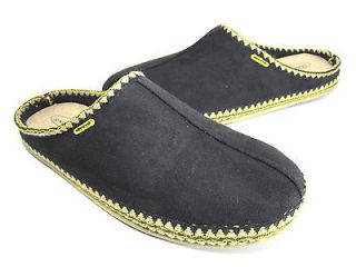 DEER STAGS MENS WHEREVER SCUFF SLIPPER BLACK MICROSUEDE US SIZE 12