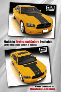 Dodge Charger Hood T Stripe Decal Kit 2006 2007 2008 2009 2010 Pro