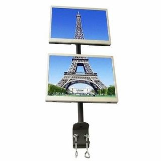 MonMount Dual LCD Vertical Monitor Desktop Swivel Stand Mount