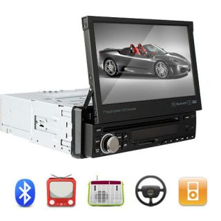 Inch Digital HD LCD TFT 1 Din Car Stereo DVD Player SD USB Face FLIP