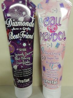 LOT OF 2 DIAMONDS ARE A GIRLS BEST FRIEND & CALL ME MAYBE PRO TAN