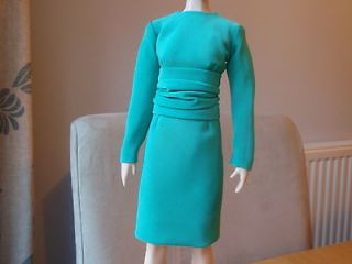 Diana Doll Franklin Mint Green Dress will fit Kate Middleton Doll
