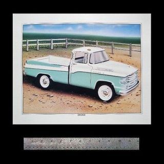 Dodge SWEPTSIDE PICKUP TRUCK 1957 1958 1959 58 W100__Old Dealer ART