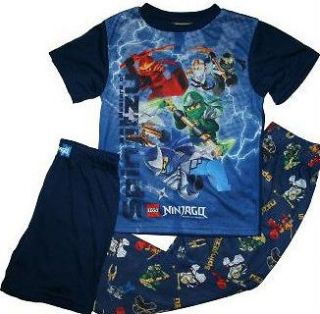BOYS 3PC Lego Ninjago 5 Ninja SPINJITZU ALL YEAR PAJAMAS SET 6 8 10 12