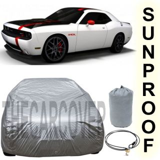 Dodge Challenger Srt Silver Car Cover Outdoor Fit UV Reflective Sun