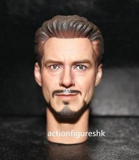 Custom 1/6 Tony Stark Robert Downey Jr. head The Avengers iron man 2