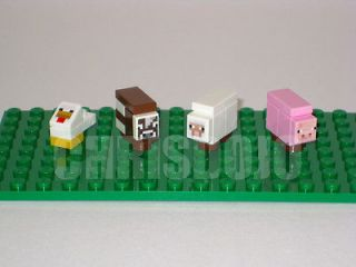 Newly listed LEGO Minecraft CUSTOM ANIMALS   Chicken Cow Sheep Pig SET