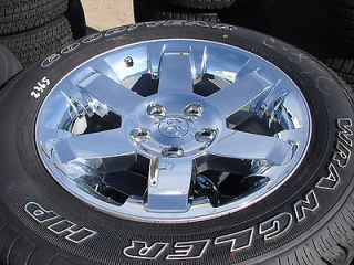 20 2013 DODGE RAM 1500 6 SPOKE CHROME FACTORY WHEELS RIMS GOODYEAR