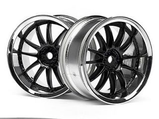 RS4 3 EVO+ CORVETTE 3286 WORK XSA 02C WHEEL 26mm CHROME/BLACK 3mm O/S