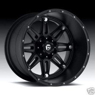 22 FUEL OFFROAD Hostage Wheel SET XD Black 22x14 FUEL DEEP LIP SERIES