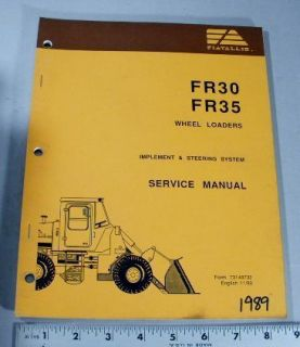 SERVICE MANUAL   FR30 / FR35 WHEEL LOADER   IMPLEMENT & STEERING SYST