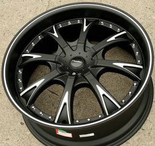 PANTHER EVO 907 20 BLACK RIMS WHEELS CHRYSLER 300 300C V6 V8 / 20 X 8