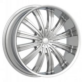 18 inch 18x7.5 PW38 Spine 4 & 5 Lug DUB RIMS Wheels & TIRES Package