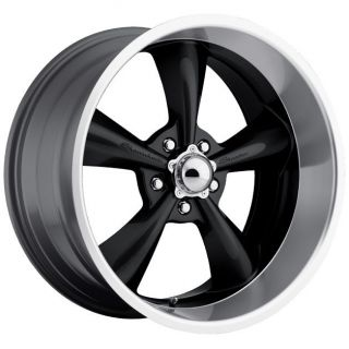 JD Wheels 17x8 Showwheels STREETER BLACK 5x5 +0 4.5 BS GM Chevy Truck