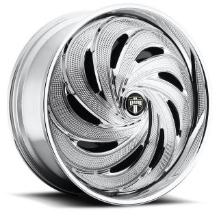 DUB SPIN FLO Wheel SET Chrome Spinner 32x10 RWD 5 & 6 LUG RIMS 32inch