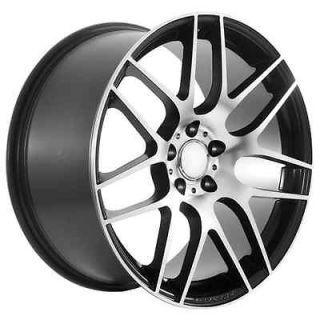 black Mercedes Benz AMG wheels rims fits C CL CLK CLS E S SLK class