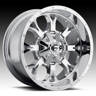 Offroad 20x12 KRANK XD 20 inch Chevy FORD Dodge CHROME WHEELS RIMS Set