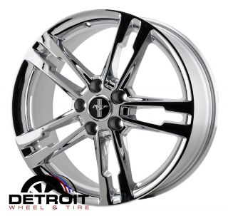 MUSTANG CHROME WHEELS RIMS   FACTORY OEM WHEELS   SET 4   18x8 2013