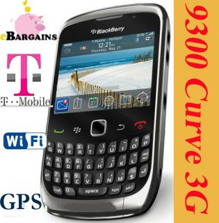 NEW RIM Blackberry Curve 3G 9300   Grey T Mobile Smartphone Cell Phone