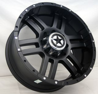 Black Wheels 20x9 Dodge Trucks 8 lug Matte Black 20 Inch Rims 2500