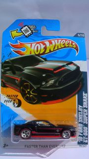 HOT WHEELS 2012 FORD SHELBY GT500 CUSTOM CHROME WHEELS RUBBER TIRES