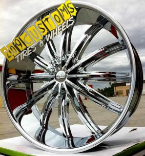Rims Wheels Tires Chrome PW28 6x139 7 Escalade 2007 2008 2009 2010