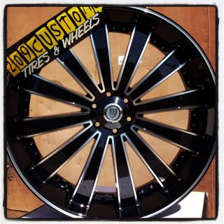 VERSANTE RIMS WHEELS TIRES VW225 BLACK 6X139 7 YUKON 2010 2011 2012