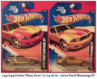 SuPeR FoRd 2010 FORD MUSTANG GT TWICE Hot Wheels Faster Than Ever 2011