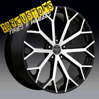 22 inch Wheels Tires Rims 5x115 Versante 229 Chrysler 300 2009 2010