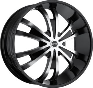 28 inch Rims Wheels Tires MKW109 5x127 Black Chevy Impala 1972 1973