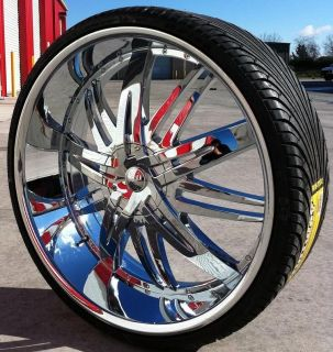 22 INCH 22X8 FWD HOYO 7 CHROME WHEELS TIRES 5X114 3 NISSAN ALTIMA 2008