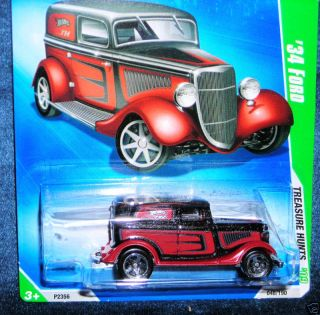 HOT WHEELS TREASURE HUNTS 34 FORD 2009 HUNT COOL HOTROD FAST SAME NEXT