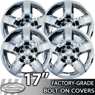 2008 2012 Chevy Malibu 17 Chrome Bolt on Hubcaps Wheel Covers