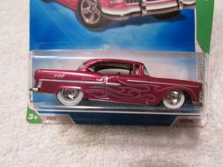 2009 Hot Wheels SUPER TREASURE HUNT 55 Chevy Bel Air White Wall Real