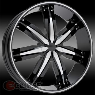 24x9 5 ET15 Black Massiv 916 Wheels Rims 5 or 6 Lug Rear Wheel Drive