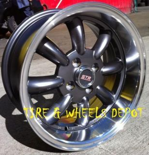 15 inch STR503G Gunme Mach Rims and Tires 4x100 Accord Civic Fit