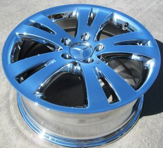 17 Factory Mercedes C300 C350 Chrome Wheels Rims 2008 12