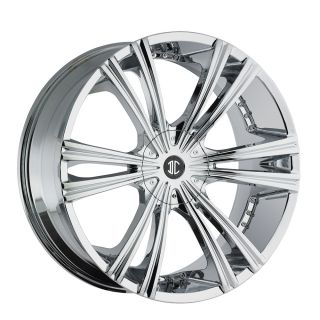 26 2 Crave Chrome #12 wheels Rims Tires Suv Donk Car Truck 877 955