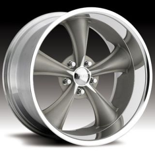 Boss Motorsports Style 338 Wheels Rims 20x8 5 5x5 14mm Gray