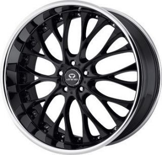 19 Lorenzo Wheels WL27 Black Rims Lexus Is 250 Accord Altima Maxima