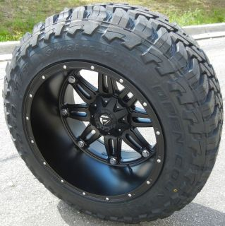 22X14 BLACK FUEL HOSTAGE WHEELS RIMS 40 TOYO OPENCOUNTRY MT TIRES FORD