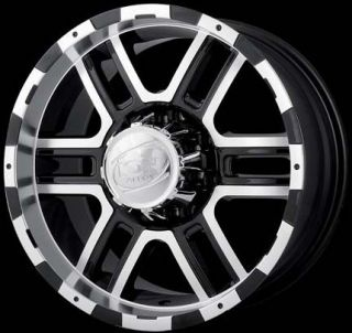 Ion 179 Wheels Rims 17x8 Ford F150 F250 7x150mm 7 Lug Black Machined