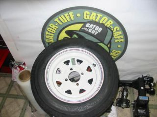2012 White 4 4 Lug 13 Tires Wheels Boat Trailer Parts