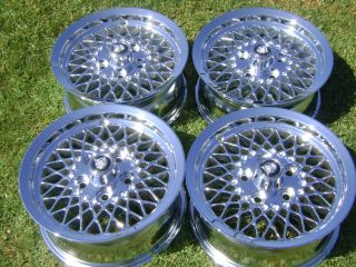 15 4 Brand New Jaguar Lattice XJS Chrome Wheels Rims