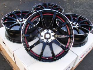 15 Effect Wheels Black Rims 4 Lugs Galant Optima Accord Legend Integra
