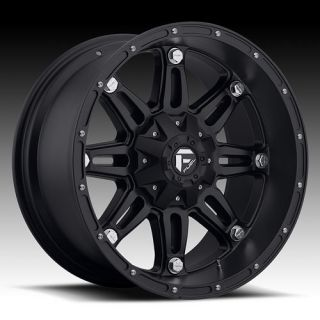20 x 10 Fuel Hostage Black D531 5 6 8 Lug Wheels Rims