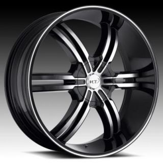 24 26 28 VCT Torino Black Wheels Rims Chrysler 300 200 Aspen M300