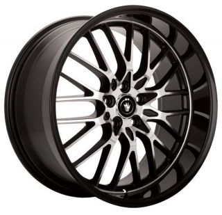 Lace 15x6.5 5x100/114.3 +40 Gloss Black w/ Machine Face Wheels Rims